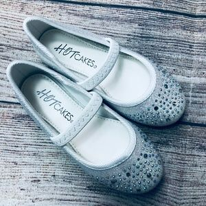NWOT Toddler Girl sz7 Hot Cakes sparkle flats
